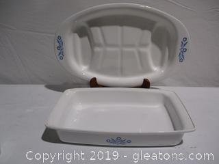 2 Corningware Cornflower Pieces