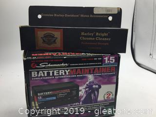 Brand New Motorcycle Lot of Battery Tender. Chrome Cleaner