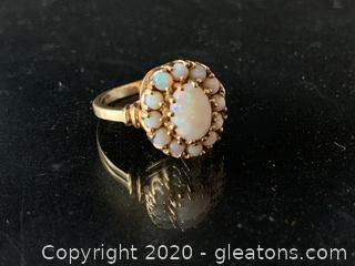 Solid Vintage Opal Ring