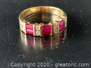 Ruby and Diamond 14K Ring