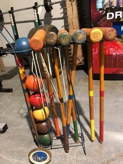 Vintage Lawn Croquet Set