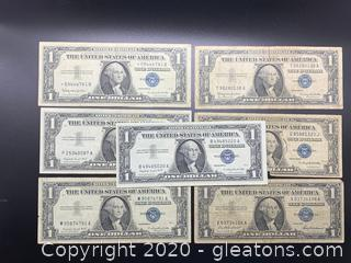 One Dollar Silver Certificates