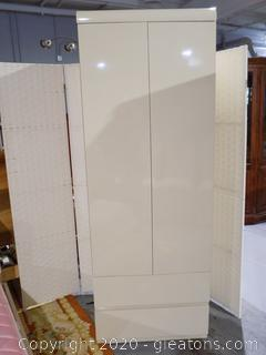 Contemporary Sleek Finish Armoire