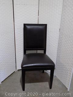 High End Black Leather Dining Room Chair C