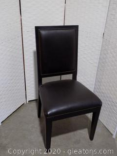 High End Black Leather Dining Room Chair B