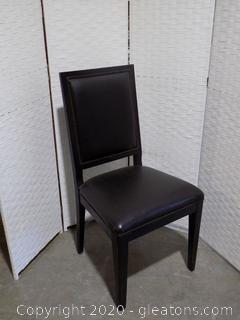 High End Black Leather Dining Room Chair F