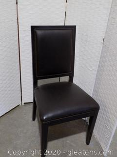 High End Black Leather Dining Room Chair A
