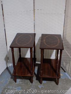 Set of 3 Two Tier Rectangular Side Tables