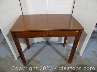 Mid-Century Wooden Writing Desk