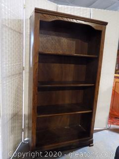 3 Shelf Bookcase – Dark Oak Finish