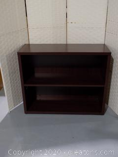 Cherry 2 Shelf Bookcase