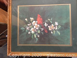 Carolyn Shores Wright Signed Cardinal Art