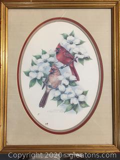 C. Sorensen Signed Cardinal Art