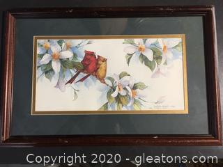 Carolyn Shores Wright Signed Cardinal Painting