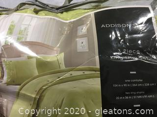 Addision King Size Comforter