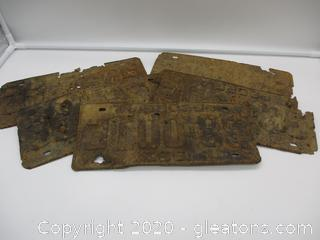 5 Old and Rusted Car Tags