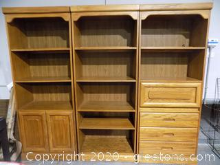 3 Unit Bookcase and Storage