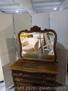 Antique Oak Wash stand with Mirror