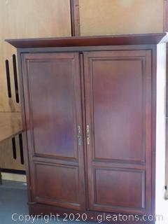 Cherry Finish TV Armoire