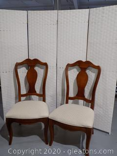 Pair Thomasville Dining Chairs