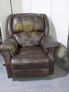 Over Sized Brown Recliner