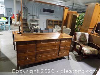 "Vintage 6 Drawer Mid –Century Heywood Wakefield  Dresser with Mirror  ""Cadence Line"""