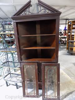 Antique Corner Cabinet W Door