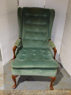 Conover Light Green Wingback Chair