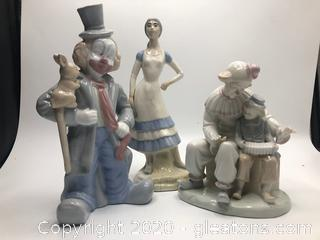 Lot of Three Porcelain Ceramic Figurines