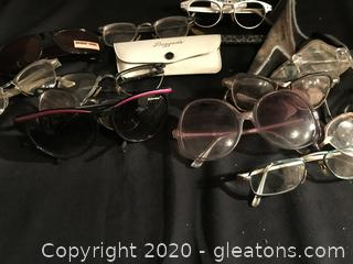 Vintage glasses, frames and cases