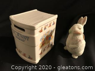 Easter Bunny and Li'l Bunny bank