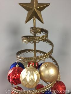 Two Metal Christmas Trees 18""