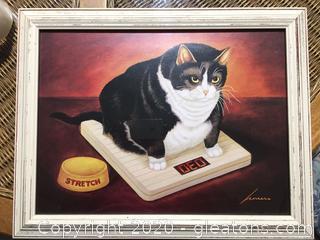 Farmhouse Fat Cat Print by Herrero