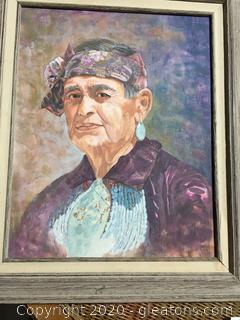 Acrylic Painting Mrs. Chester Mahogany