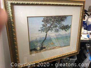Water Color Reprint Framed Art
