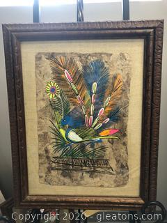 Original Madalla Framed Art of Bird
