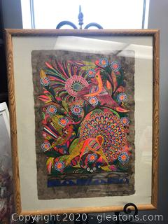 Hand Painted Original on Canvas Madalla Bird Art