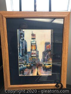 Watercolor Print Times Square
