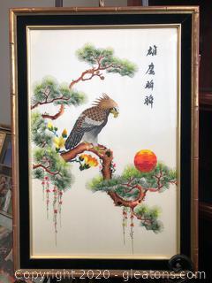 Hand Stitched Asian Art