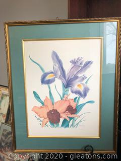 Signed Framed Art Done by Patsy Wong