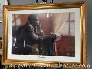 """The Letter"" Framed Wall Art by Monica Stewart"