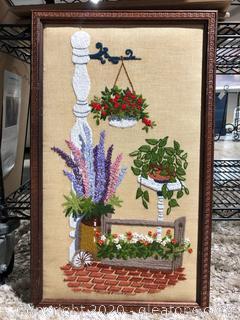 Hand Stitched Wall Art