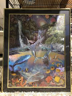 Framed Lithograph of Sea life