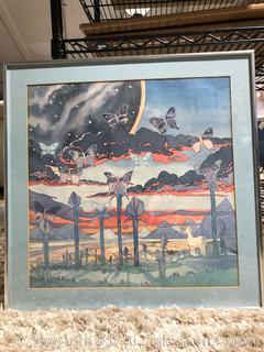 Unicorn & Butterfly Framed Art