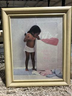 """All in A Days Work"" Framed Wall Art"