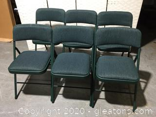 6 Nice Fold up Chairs by Cosco