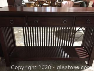 Mission Style Foyer Table by American Signature