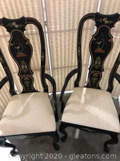 Dining Arm Chairs Pair by Thomasville D