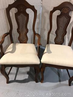 Cane Back Dining Chair Pair B