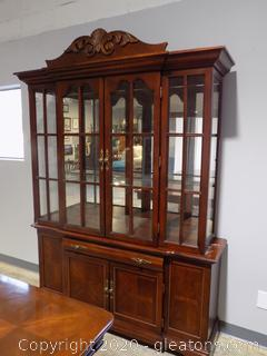 Breakfront Lighted China Cabinet
